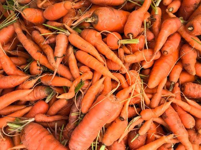 Abundance Carrots Close-up Day Food Food And Drink For Sale Freshness Full Frame Healthy Eating High Angle View Market No People Orange Color Outdoors Retail  Vegetable