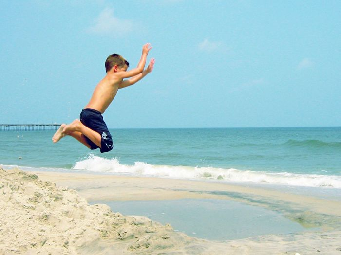 Jump! Beach boy. Sea Beach Jump Day Motion Blue Sky Mid-air Wave Nature Outdoors Vacations Fun Rodanthe OBX North Carolina Outer Banks, NC North Carolina Ocean Ocean Beach Neighborhood Map EyeEmNewHere Live For The Story Live For The Story Live For The Story EyeEmNewHere Copy Space Sommergefühle Sommergefühle Breathing Space
