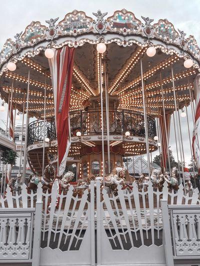 Amusement Park No People Amusement Park Ride Arts Culture And Entertainment Built Structure Pattern Design Sky Architecture