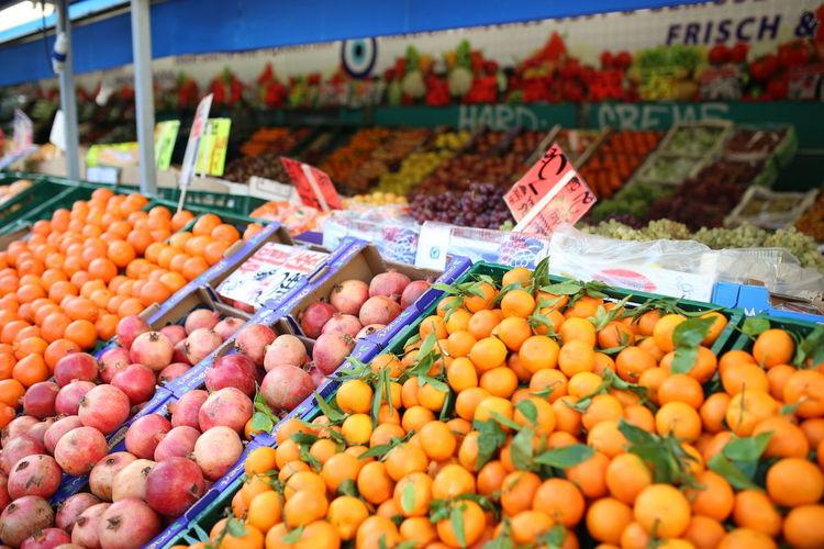 Food Food And Drink Freshness Fruit Healthy Eating Market Market Stall Orange - Fruit Streetfood