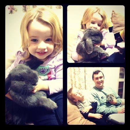 New pets! Family Rabbit Niece And Nephew Boyfriend