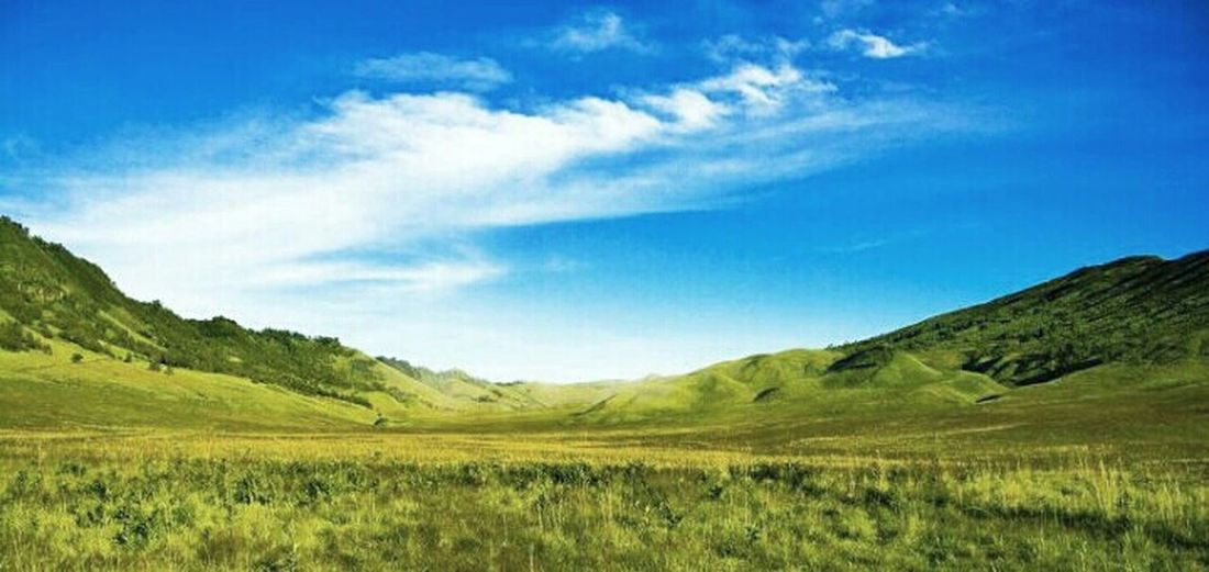 Sky Landscape Enjoying The View Indonesia Scenery Teletubbies Hills