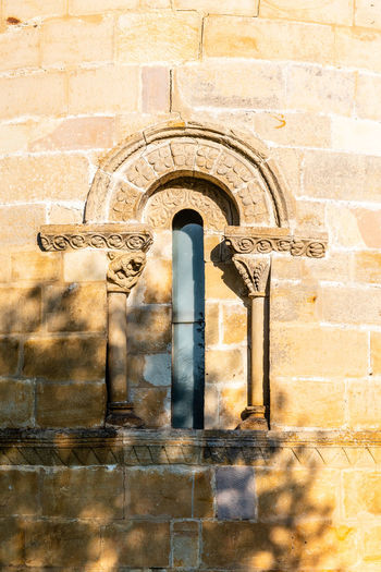 Window in apse of romanesque church Architecture Built Structure No People History The Past Medieval Church Chapel Romanesque Architecture Travel Historical Building Building Window Apse Alabaster Arch Building Exterior Wall - Building Feature Wall Outdoors Stone Wall