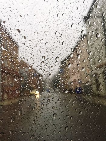 Frankfurt Am Main Drop Wet Glass - Material Window Water Rain Weather Indoors  RainDrop Rainy Season No People Backgrounds Day Close-up Sky