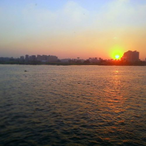 Egypt Cairo Nile River View from Maadi by Sunset .. NoFilters