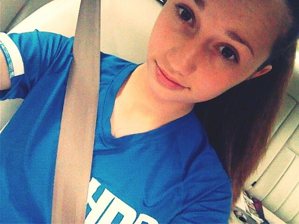 off to softball.(: