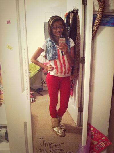 Spirit week @ school (: Merica Dayyy ****** lol Yayy . #Flag