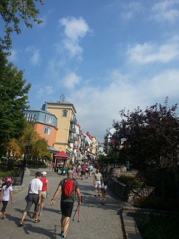 Blue Sky And Clouds Canada Detour Enjoying Life Exploring Mont Tremblant, Qc Music Festival Out And About Outdoors Summer At A Ski Resort