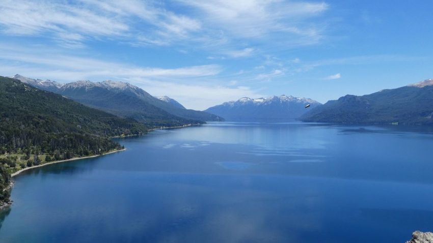 Lago traful Arg🇦🇷 Que ves?? Mountain Lake Water No People Day Objects In The Sky