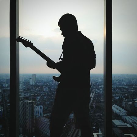 My Guitar ♡ Play Music Just A Feeling Silhouette