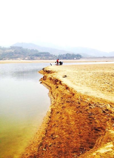 The lake is drying up~Un lac moitié sec (干枯中的湖) Lake Drying Lakeshore Guangzhou China