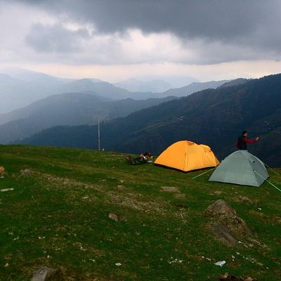 BASECAMP @ Parashar Lake ......... Camping Mountains Dhauladar Pirpanjal Parashar Rishi Temple Ankitdogra