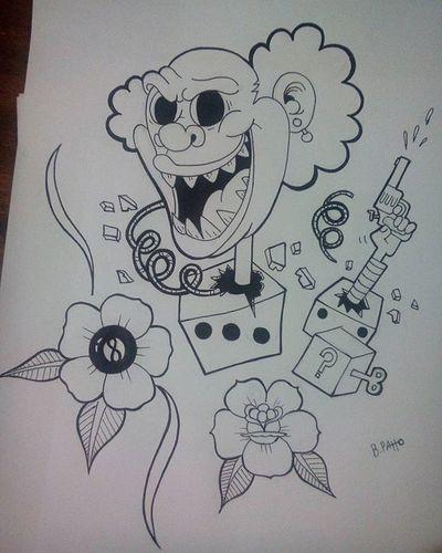 Boa noite! 👋🏻 Sketch Sketching Draw Drawing Art Palhaço Muitoloko Boamadrugada