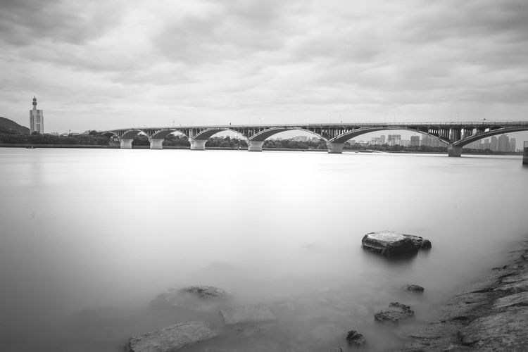 Bridge - Man Made Structure Sky Built Structure Cloud - Sky No People Outdoors Water Architecture City Cityscape 15-85 Long Exposure
