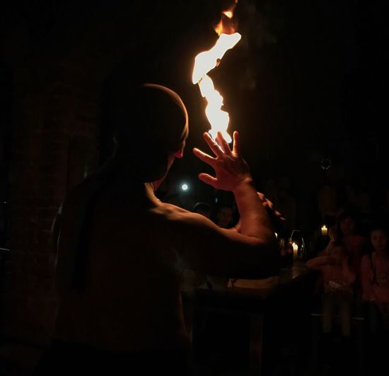 Real People Fireshow Fire Dark Magic First Eyeem Photo