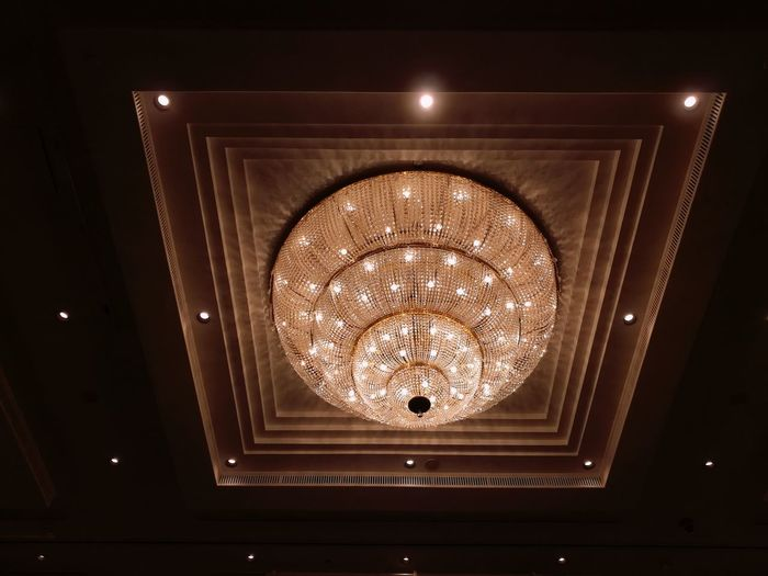 Illuminated Lighting Equipment Circle Bright Electricity  Luxury No People Indoors  Chandelier Electricity