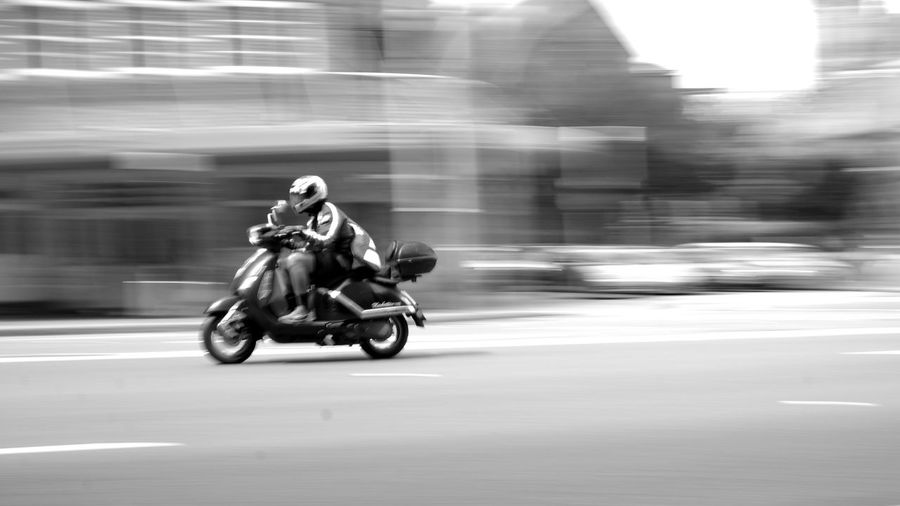 Motorcycle on