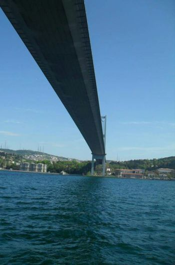 Sea So High Bridge - Man Made Structure Architecture Built Structure Connection Water Transportation River Clear Sky Sky Blue Nature