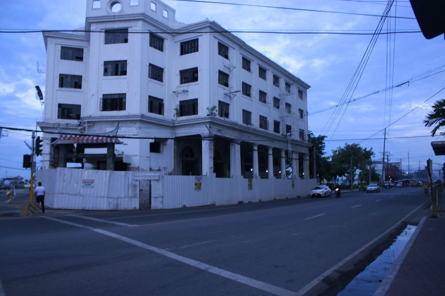 Architecture Building Building Exterior Built Structure Cable Carbon Street Cebu City City Life City Street Cloud Cloud - Sky Day Diminishing Perspective Historical History Outdoors Power Cable Power Line  Power Supply Road Sky The Way Forward Tramway Visayas