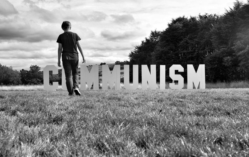 Black And White Photography Black And White Ideology Political Politics Politics And Government Anti Facism Communism Communist Field Real People Grass Standing Government