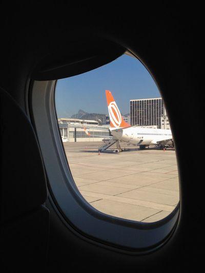 Corcovado visto do Avião no Aeroporto Santos Dumont Airport Window Voegol Rio De Janeiro EyeEm Rio