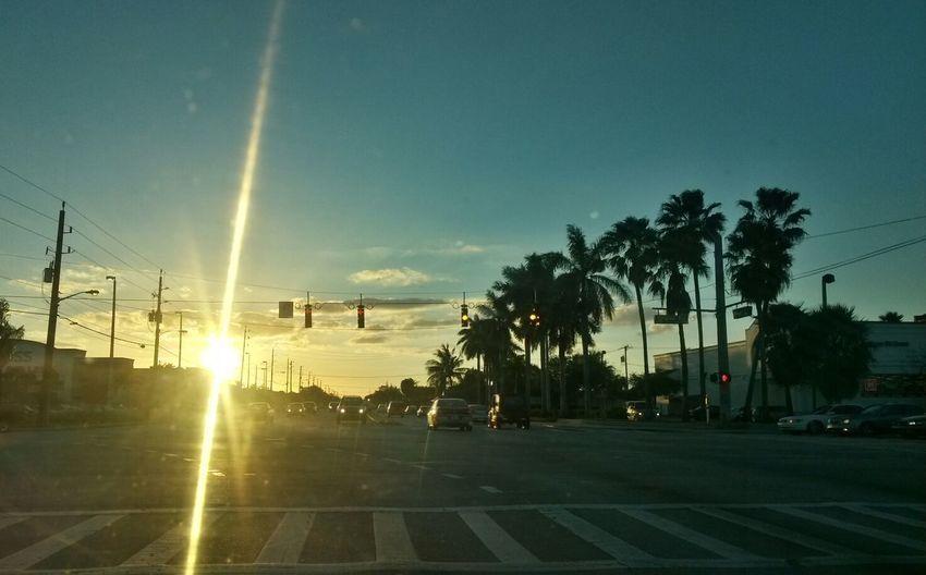 Sunset Urban Scene Floridasunet