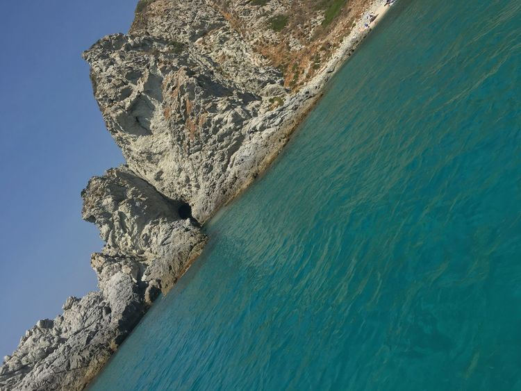 Calabria Photo Landscape Sea Water Rock - Object Rock Formation Nature Scenics Cliff Beauty In Nature No People Blue Outdoors Tranquil Scene Beach Horizon Over Water Tranquility Sky