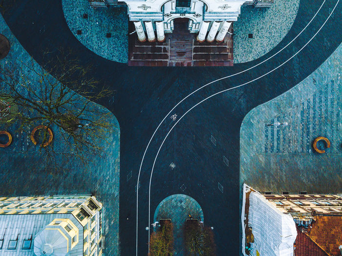 Curves of city Architecture Bike Lane City Curve Drone  Morning Aerial Photography Aerial View Building Exterior Built_Structure Europe Mavic Mavic Pro New Day No People Sunrise Top Down View Fresh On Market 2018 The Week On EyeEm Editor's Picks