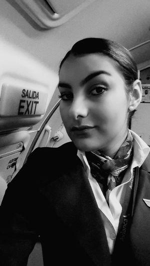 Blackandwhite Sefie Working Avianca Flight ✈ I Love My Job!
