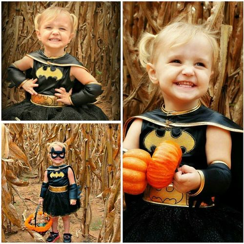 I can't get over how adorable my little niece is, even if her daddy is ugly as hell. HAHAHAHA. She may be a brat at times but she knows she has my heart and I will give her candy and whatever else she wants when her momma says no. ?????????? ProudAunt Loveher Tothemoonandback KayleeMarie Precious SoPretty BatGirl ReadyForHalloween