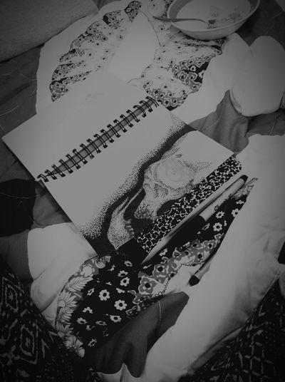 Work in progress.. Skull Sharpie Stippling Black And White Drawing Sketch Sketchbook Draw Black Dark