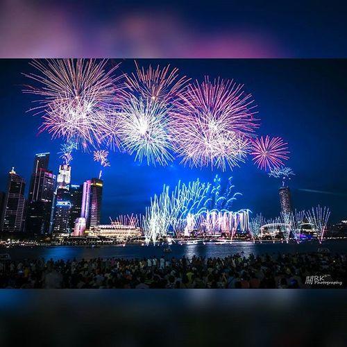 Singapore NDPRehearsal2015 Fireworks Marinabaysands Sg50