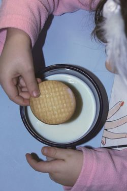 Biscuit Biscuit Time Biscuits Biscuits And Milk Breakfast Breakfast Time Child Children Children Eating Children Photography Circles Cookies Eating Eating Breakfast Eating Good Fingers Food Food And Drink Hands Human Hand Milk Milk And Cookies One Person Real People Textures And Surfaces
