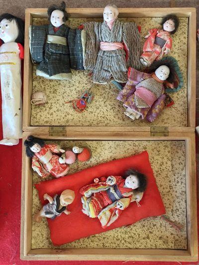 Tiny vintage rag dolls. Craft Handmade Exhibition Japanese Culture Toys 雛祭り Hinamatsuri Tadaa Community Japan Konosu Antique Dolls Vintage Doll Unique Miniatures Check This Out
