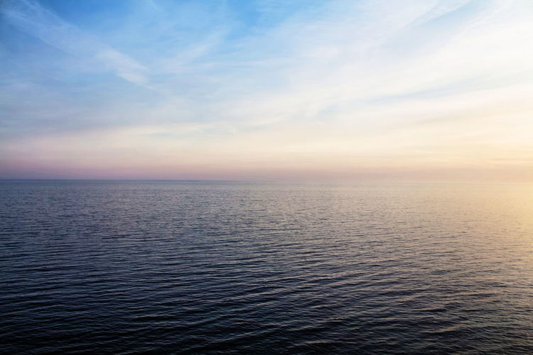 Afterlight Beauty In Nature Blue Calm Clouds And Sky Colorful Colors Horizon Horizon Over Water Nature Outdoors Rippled Sea Seascape Sky Sky And Sea Sunset Tranquil Scene VSCO Vscocam Water Waterscape The Week On EyeEm