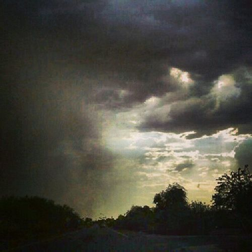 Arizona Haboob Sunsetsgram Insaneclouds Instapic Wallofdirt Silhouette Crazycloudcoverage Driving Azdesert Citylifeinaz