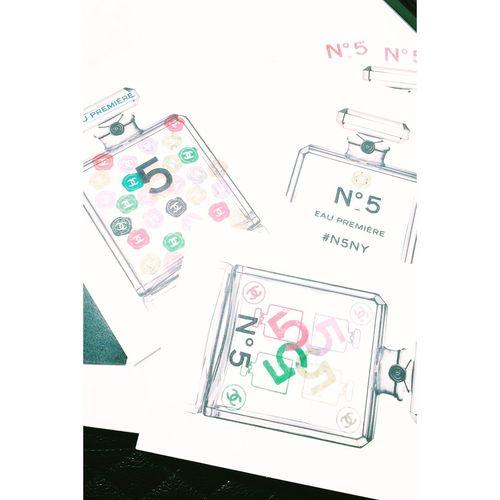 My presentation of No 5 Chanel No.5 Perfume Postcard