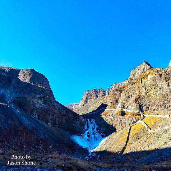 长白山瀑布 Heaven's Lake Waterfall Icefall