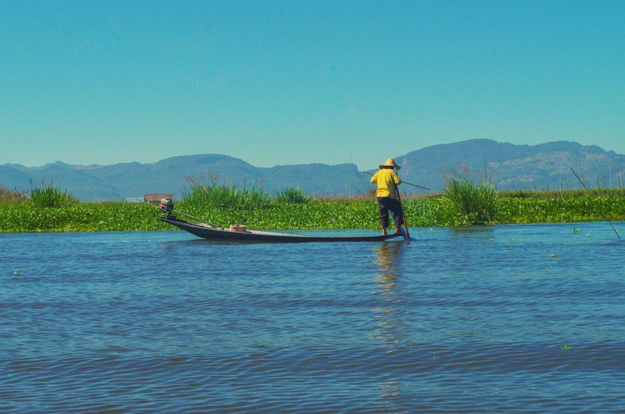 Fishing Inle Lake One Person One Man Only Only Men Adults Only Full Length Adult Standing Outdoors Water Lake Nature