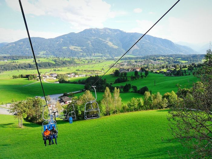 """Sesselbahn. Austria"". Summer Memories... Alpine Alpen SalzburgerLand In Seggiovia Sessellift Chair Lift Télésiège Point And Shoot Eyeemfilter Edited Panoramic View"