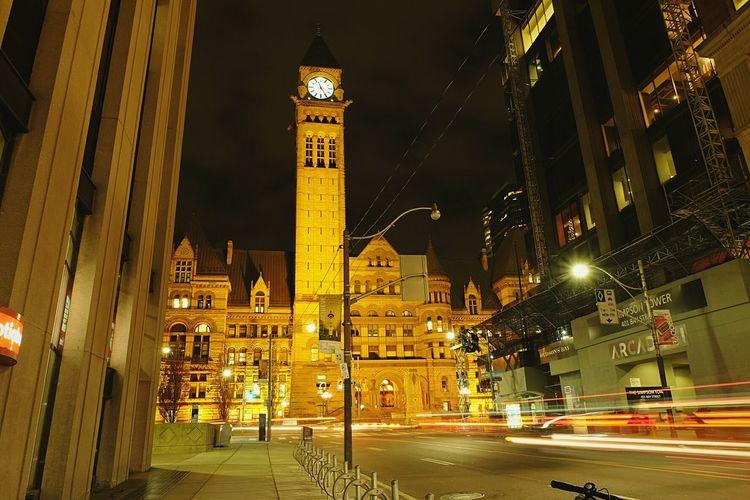 Bay Street city lights Toronto Streetphotography Nightphotography Night YYZ Canada Coast To Coast Blur Blurred Motion Architecture