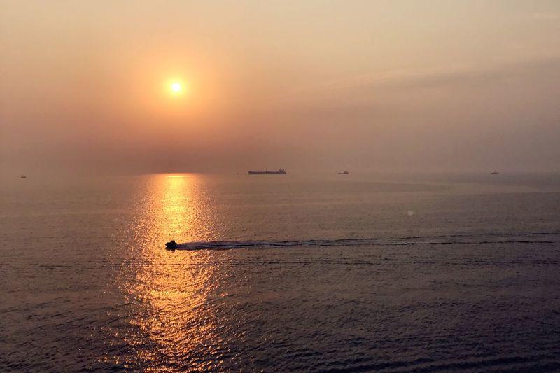sunset Sunset Water Sky Sea Sun Beauty In Nature Scenics - Nature Horizon Over Water