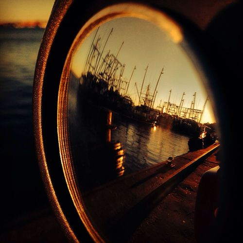 Fishing Boat in my rear view Mirror