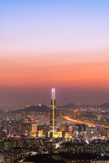 ASIA Beautiful City Cityscape Clear Sky Cool High-rise Building Korea Light Magic Hour Northeast Asia Road Building Buildings & Sky City Lights City View  Clean Fancy Mountain Night View Night View Of City Republic Of Korea EyeEm Ready   EyeEmNewHere
