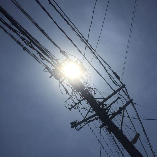 青空 Blue Sky 空 Sky 電柱 Utility Pole 電線 Electric Wires