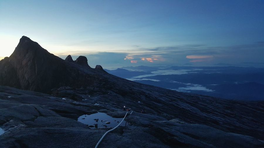 Dawn Close To  Peak Mountain Kinabalu
