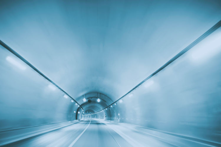 Blurred Motion Of Empty Tunnel