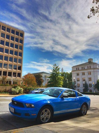Feeling a lttle blue. Ford Mustang Mustang Washington Monument Washington, D. C.