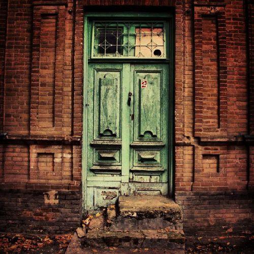 Old Door Maikop Maykop eski kapı green yeşil 2