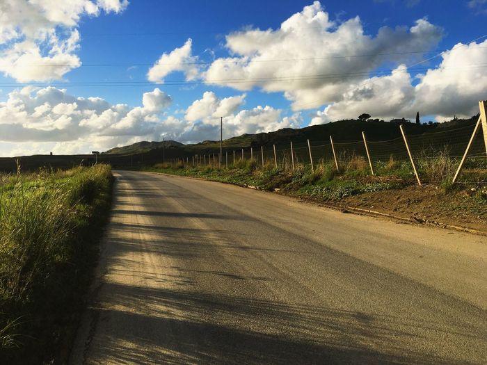 Cloud - Sky Sky Road The Way Forward Sunlight Direction Nature